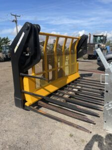 Used 2019 Strimech 9ft Heavy duty Buckrake with Hardox tines 3 Point Linkage